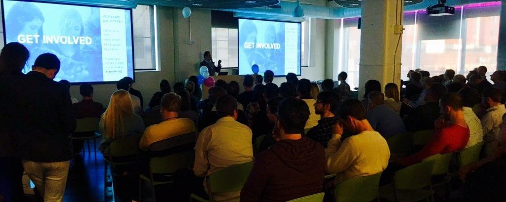 IBM Watson AI XPRIZE lead Amir Banifatemi presents at UPMC Enteprrises
